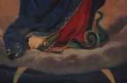 <h5>Vierge de l'Immaculée conception ou Vierge aux douze étoiles, foulant le serpent</h5><p>Emmanuel Soutter (attribuable à), deuxième moitié du XIXe siècle, 124 x 72, huile sur toile, détail</p>